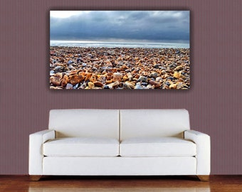 Pebble Art - Pebble Canvas Print - Beach Canvas Print - Shoreline Canvas Print - Beach Canvas - Pebble Canvas - Coast Canvas - Pebble Photo
