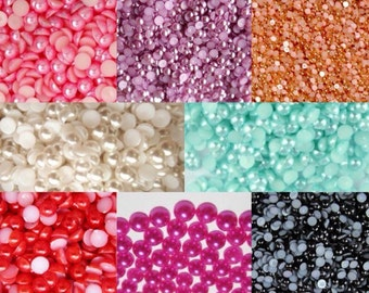 Flatback Pearls Choose Size