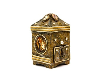 Jeweled Decoupage Jewelry Box