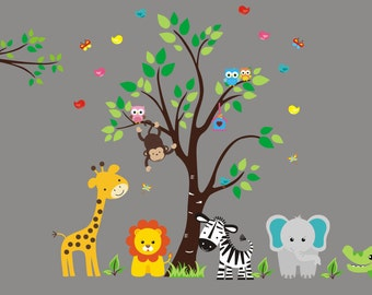 "Nursery Wall Decal - Wall Decals Nursery - Baby Room Decals - Nursery Decals - Baby Wall Decal - Nursery Wall Stickers - 88"" x 90"""