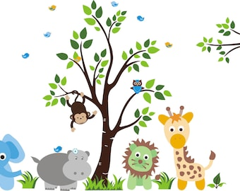 Wall Stickers Nursery Wall Decals Nature Baby Nursery - Nursery wall decals jungle