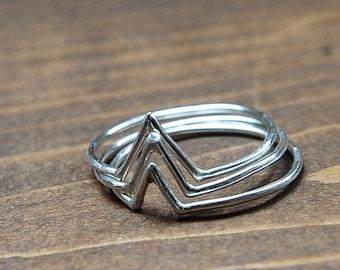 Mountain Stacker Ring Set