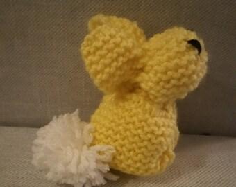 Knit Stuffed Bunny