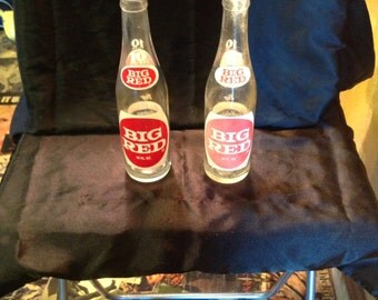Vintage Big Red Soda bottles