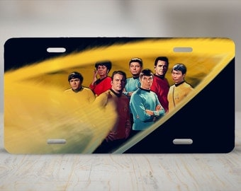 Star Trek Original Crew Aluminum License Plate