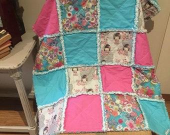 Baby girl Rag Blanket