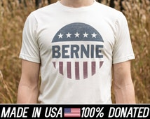 100% Profits Donated Bernie Sanders 2016 2 color Organic Cotton Recycled Poly blend Royal Apparel