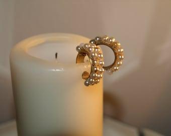 Romantic earrings faux pearl