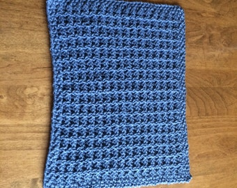 100% Cotton Hand Knit Washcloth/Face Cloth