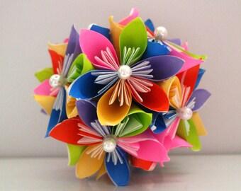 Rainbow Origami Kusudama Ball