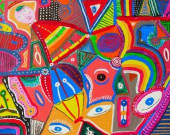 """painting """" danse elliptique"""""""