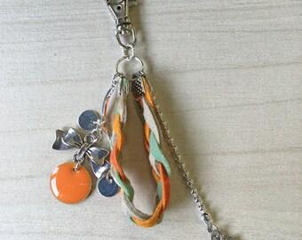 Orange braided keychains