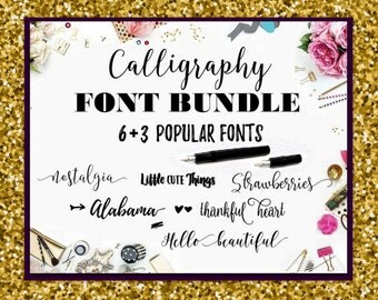 Digital font Swirly Fonts Bundle Calligraphy Digital download font Handwritten Monogram fonts Wedding fonts Cricut font calligraphy swash