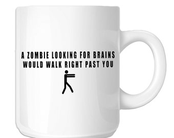 Zombie Looking For Brains Funny Walker (SP-00285) 11 OZ Novelty Coffee Mug