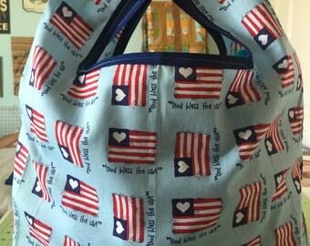 Patriotic Grocery Bag