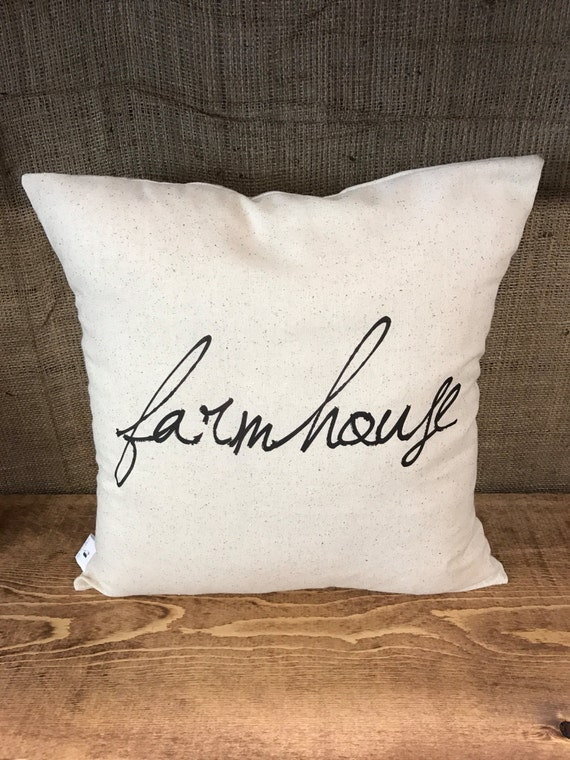 Throw Pillow Covers Farmhouse : Rustic Farmhouse Pillow Cover throw pillow cushion cover