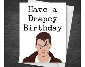 Cry-Baby birthday card, Cry Baby Birthday Card, Johnny Depp Birthday Card, Johnny Depp Greeting Card, Johnny Depp Card