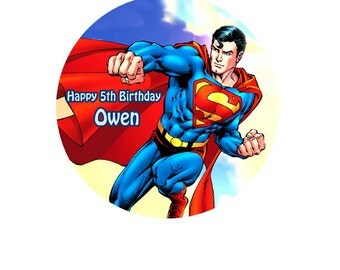 """Superman personalised Cake Topper Edible Wafer Paper 7.5"""" F"""