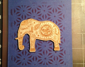 Handmade Elephant Card - Any Occasion