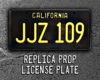 Bullitt / Steve McQueen's '68 Ford Mustang / JJZ 109 *Metal Stamped* Replica Prop License Plate