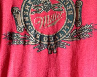 Miller beer tee 1970s-80s