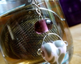 Ball ball the BREW filter tea herbal tea infusion-accessory glass of Murano-Pearl to the torch