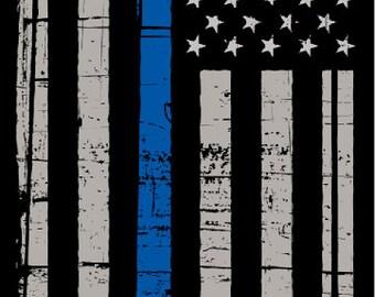 Police Thin Blue Line Flag Cornhole Wrap Bag Toss Decal Baggo Skin Sticker Wraps