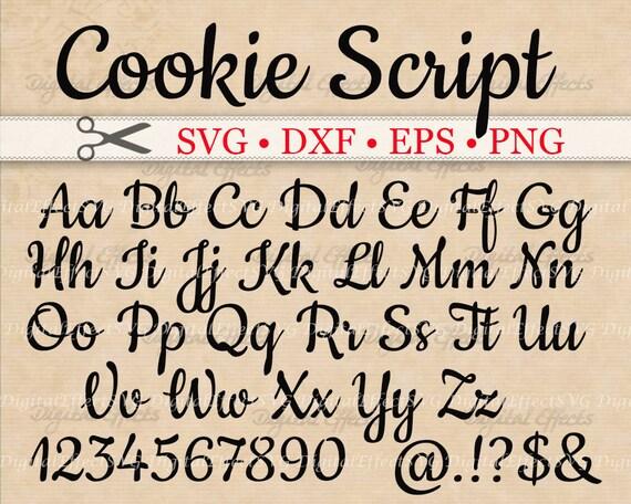 Download COOKIE Script SVG Handwriting Font Retro Script Monogram