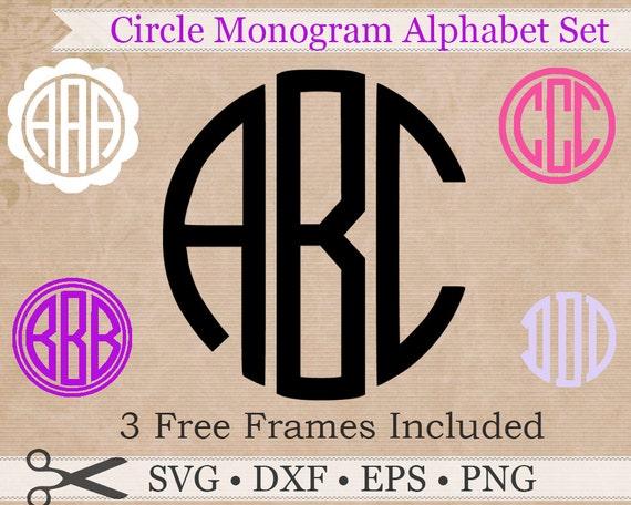 Circle Monogram Svg Eps Dxf Png Files Circle Monogram
