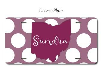license plate frame etsy. Black Bedroom Furniture Sets. Home Design Ideas