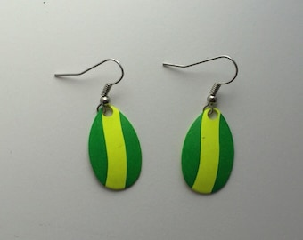 Striped Fishing Lure Earrings