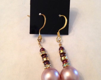 Swarovski Glass Pearl Earrings