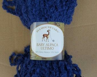 Alpaca Yarn - Baby Alpaca Ultimo 6488 - Blue Boucle Yarn