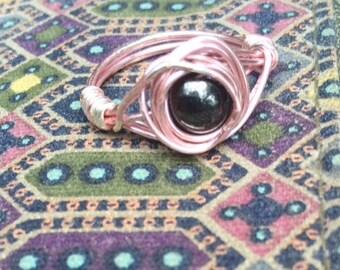 Hematite Pink Ring