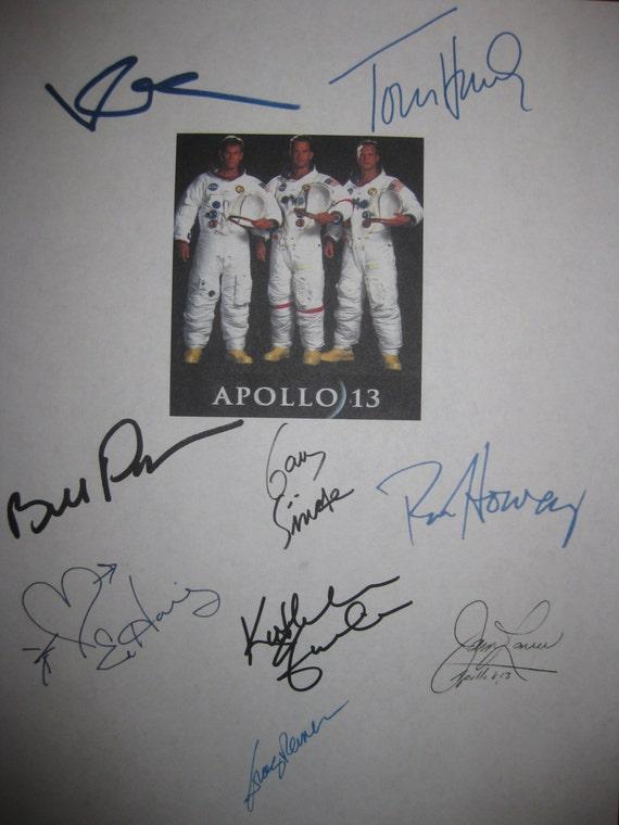 apollo 13 signed film movie screenplay script x9 autograph tom