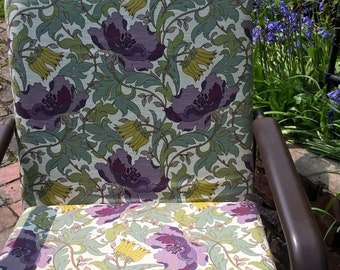 Retro Lounge Chair Floral Print