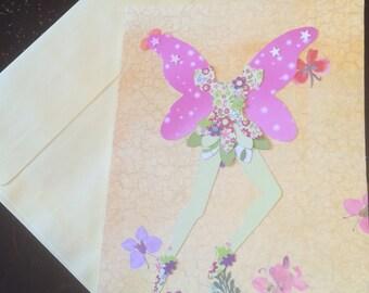 Pretty woodland fairy card