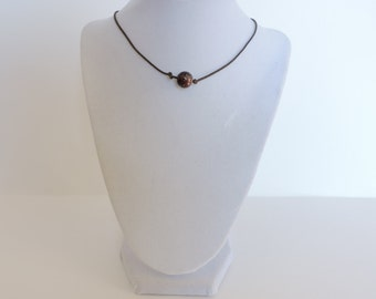 Brown Snake Choker Bead Necklace