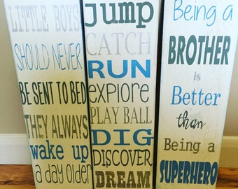 Boys Bedroom Signs