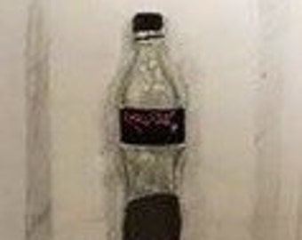 Drawing of coca cola bottle
