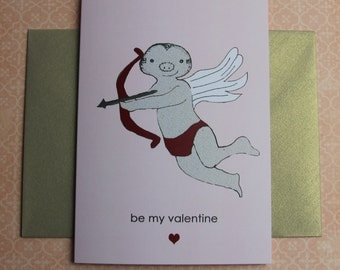 Valentine's Day - Mr Sloth Humour Cupid Card