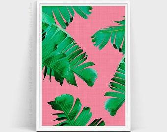 Banana Leaf Print, Banana Leaves, Palm Wall Decor, Tropical Leaves, Leaf, Tropical Print, Tropical Wall Art, Beach Decor, Botanical Print