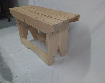 Wood Plank Work Bench