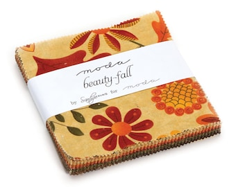 "Beauty Fall Charm Pack by Sandy Gervais for Moda - (42) 5"" x 5"""