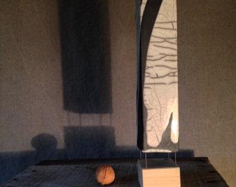 On stilts raku ceramic vase