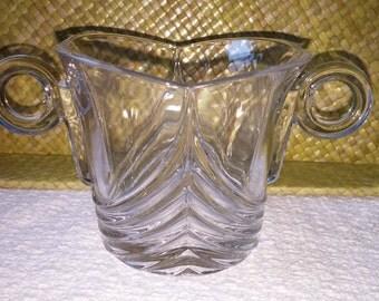 Heisy Glass Sugar and Creamer Set Stanhope Design