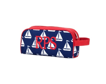 Monogrammed Sail Away Toiletry Bag Bag / Monogrammed Toiletry Bag / Boys Travel Bag