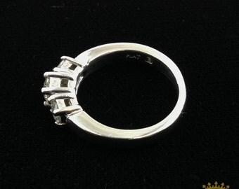 Platinum 3-stone Anniversary Ring