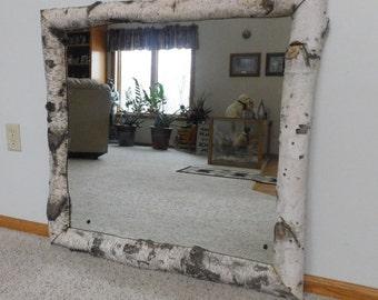 """37""""x37"""" Custom made birch mirror"""