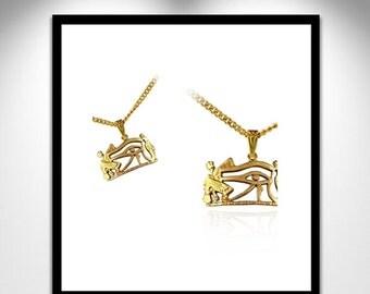 Oudjat Gilt Bronze Necklace _ Collier Oudjat Bronze Doré